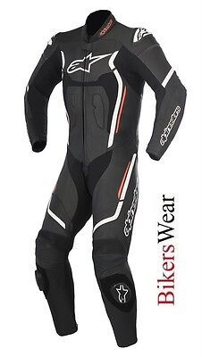 New Alpinestars Motegi V2 Leather 1PC one Piece Motorcycle Race Suit Black/Red
