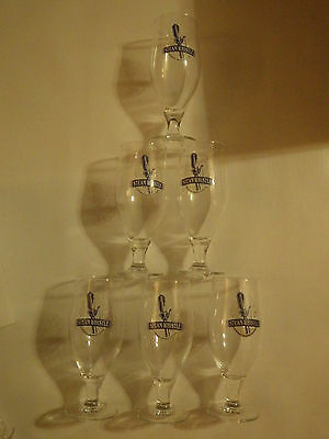 6 Steam Whistle BeerGlasses Box of 6 Steam Whistle Brewery Chalices NEW UNUSED