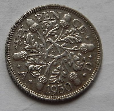 Sixpence George V 1930 EF .500 Silver