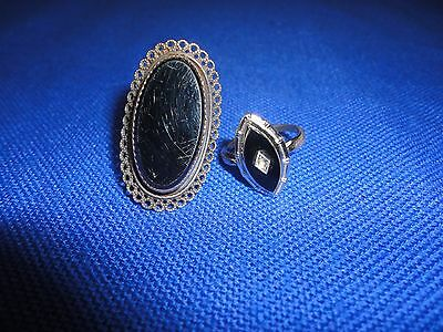 2 Vintage Costume Jewelry Rings Both Marked Sterling AS IS