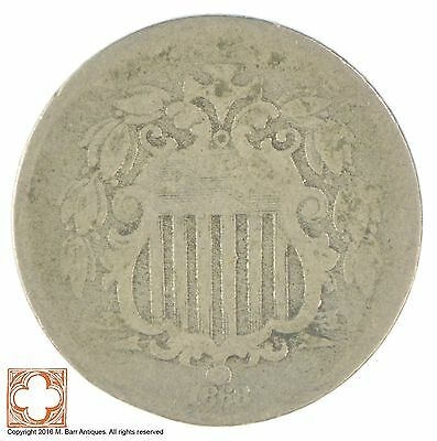 1868 Shield Nickel - US Type Coin *XB21