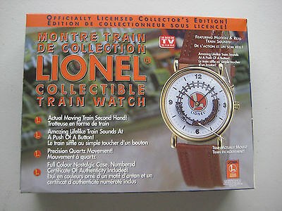 Lionel Collectible Train Wrist Watch w/ Tin - Motion & Sound - New in box