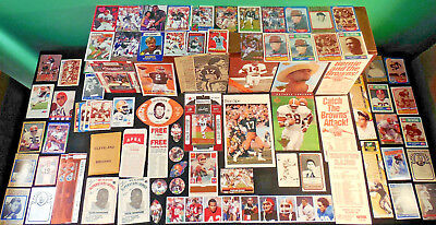 60s-90s Cleveland Browns lot 420! Pepsi Wheaties Topps MacGregor Kellogg's CME**
