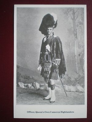Postcard Queen's Own Cameron Highlanders - Officer