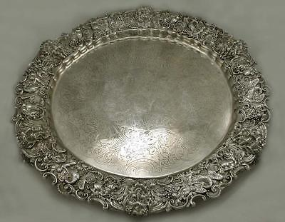 English Sterling Tray       BACCHUS                   Weighs 218 oz