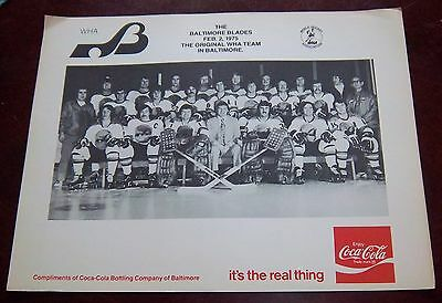 Baltimore Blades Hockey Team Photo 1975 WHA from the Woody Ryan Collection