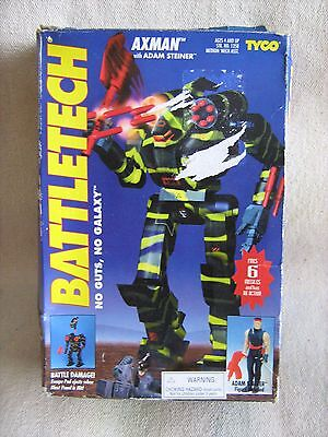 """""""Vintage"""" - TYCO - BATTLETECH - """"AXMAN""""- boxed with A.Steiner figure - 1994"""