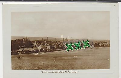 Photo Postcard - Tennis Courts, Barshaw Park, Paisley.