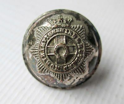 Victorian British Army Officers Silver Plated Button Northamptonshire Militia