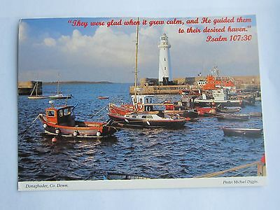 Hinde Holy Bible Quote Calendar Postcard Donaghadee Co Down Lighthouse
