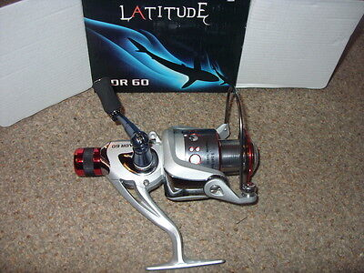 Latitude reel 9 bearing size 60 coarse big pit  new + boxed quality but cheap !