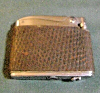 Vintage Ronson Adonis Leather Wrapped Cigarette Lighter Vg Condition