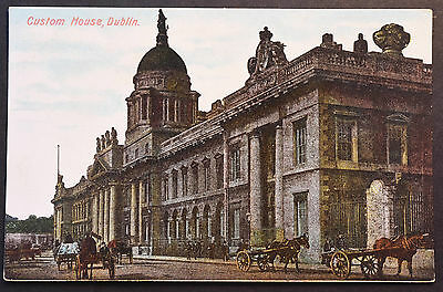 Irish Postcard ~ Custom House, Dublin ~ Signal Series