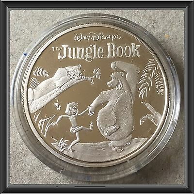 1967-1997  30th Anniversary Disney Jungle Book 1 Ounce Silver Coin