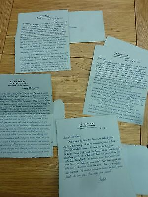 1952 4 X Beautifully Written Passionate Love Letters To Rosamunde From Harry