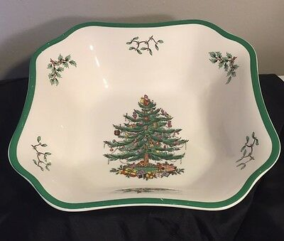 Spode Christmas Tree 9 1/4 In.² Square Serving Bowl Dish - SPODE CHRISTMAS TREE 9 1/4 In.² Square Serving Bowl Dish - $14.96