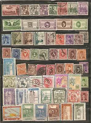 a stock page of used  stamps, from the Dom.Republic and Egypt.