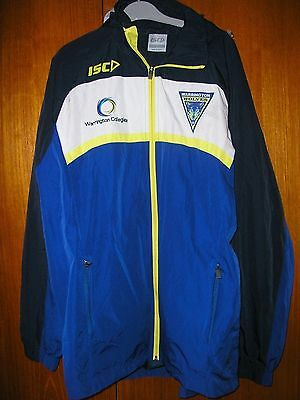 Warrington Wolves Rugby League Football Shirt / Rain Shower Coat size L by ISC