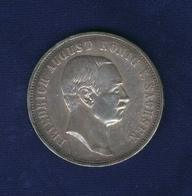 German States  Saxony 1909-E  3 Mark Silver Coin, Almost Uncirculated+