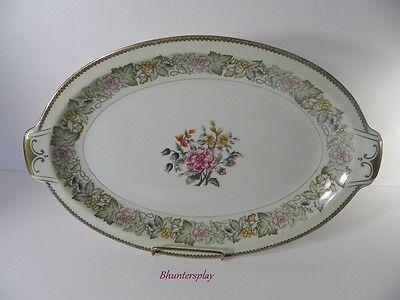 """MEITO Ivory China 15"""" Platter BOUQUET Pattern OCCUPIED JAPAN"""