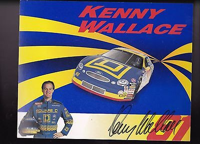 """Kenny Wallace Square D NASCAR Racing Autographed 8"""" x 10"""" Photo Card A"""