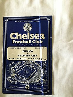 CHELSEA Res v LEICESTER CITY Res ( Comb ) 1957/8.