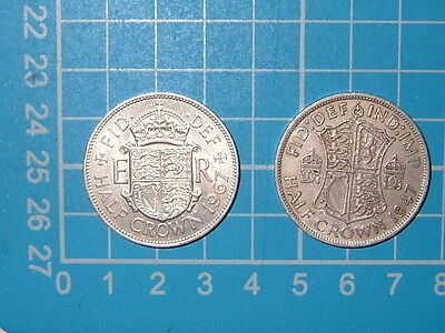 Half Crowns x 2 1947 and 1967