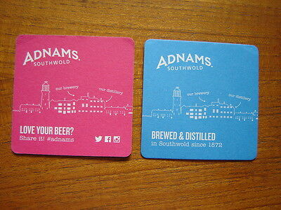 2  Adnams  Southwold  Brewery   Beer  Mats / Coasters   New