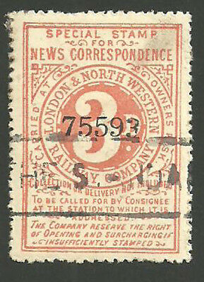 3D London & North Western Railway Special Stamp For News The Standard