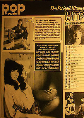 1 german clipping KATE BUSH N. SHIRTLESS SINGER GIRL BOY BAND BOYS 70`s BRAVO
