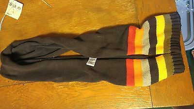 Gymboree In The Snow Boys Scarf Navy withylw, org, red, gray, grn Stripes