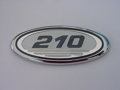 Sea Ray 210 Oval Emblem For Hull Side New Chrome Black Numbers White Background