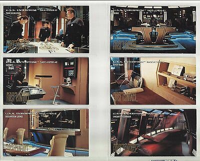 "1996 Star Trek: First Contact ENTERPRISE ""Complete Set"" of 6 Chase Cards (E1-E6)"