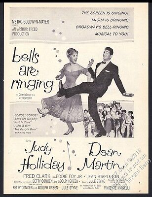 1960 Judy Holliday Dean Martin photo Bells Are Ringing movie release print ad