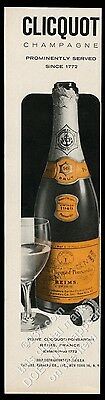 1957 Veuve Clicquot Brut champagne 1949 bottle photo vintage print ad