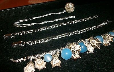 Lot of 4 Pieces Jewelry Signed Germany 3 Bracelets and 1 Pendant