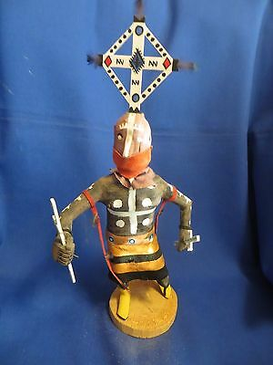 14 Inch Navajo Indian Hand Crafted Giant Clown Dancer Kachina by Franklin Begay