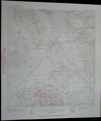 Winkelman Arizona Coronado National Forest vintage 1957 old USGS Topo chart