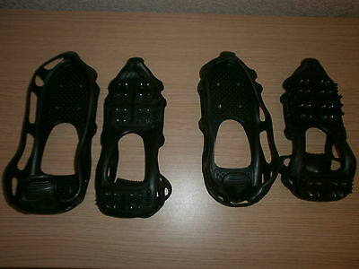 2 pairs rubber snow/ice shoe grips