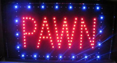 "PAWN Sign LED Neon Light 13"" x 24"" Business Advertising ANIMATED MOTION"
