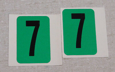 1990's Montana July month license plate sticker pair
