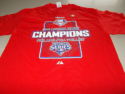 Philadelphia Phillies - 2009 Nl Champions T-Shirt - Large - See Desc For Sizing