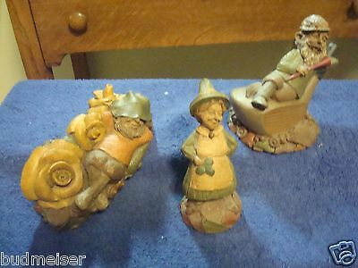 CAIRN FIGURINES -- GROUP  of  3 -- PETE, COLEEN + MULLIGAN