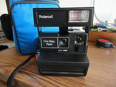Polaroid One Step Instant Camera with Bag-Both in Excellent Condition