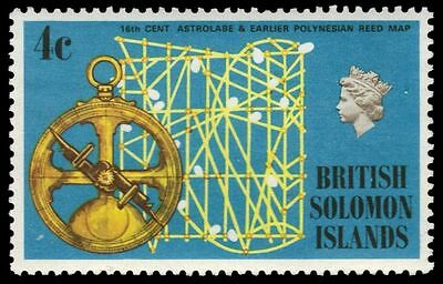 SOLOMON ISLANDS 215 (SG202) - Astrolabe and Polynesian Reed Map (pa82817)