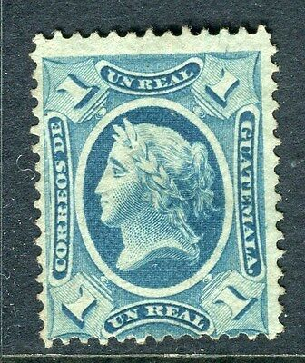 GUATEMALA;    1875 early classic pictorial issue Mint unused 1r. value