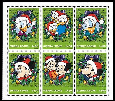 SIERRA LEONE 2077 (SG2813a) - Disney Characters Christmas S/S (pa82802)