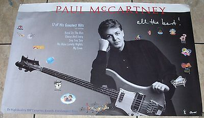 """PAUL McCARTNEY 1987 'All The Best'  CAPITAL RECORDS PROMO POSTER 24X36"""""""