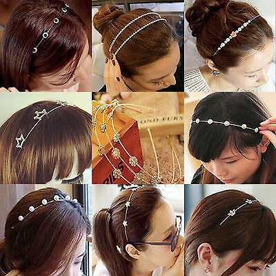 NT Fashion Women Metal Crystal Rhinestone Jewelry Headband Head Piece Hair Band