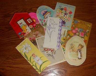 Lot of 14 Vintage Easter Greeting Cards Used